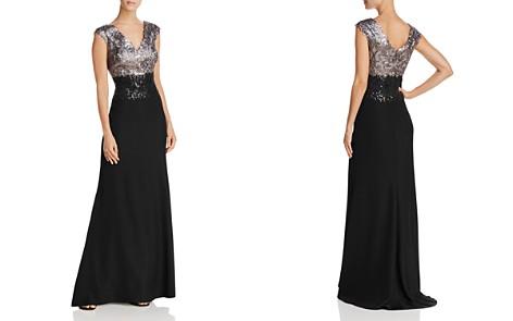 Tadashi Shoji Sequin Lace Bodice Gown - Bloomingdale's_2