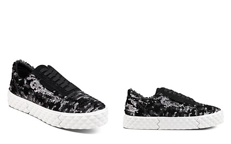 KENDALL and KYLIE Women's Reign Sequin Platform Lace Up Sneakers - Bloomingdale's_2