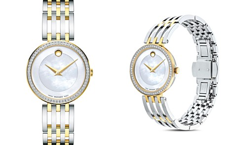 Movado Esperanza Diamond Bezel Two-Tone Watch, 28mm - Bloomingdale's_2