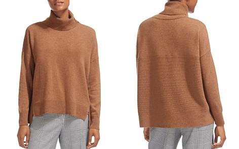 Whistles Horizontal Ribbed-Knit Cashmere Turtleneck Sweater - Bloomingdale's_2