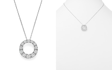 Bloomingdale's Diamond Open Circle Pendant Necklace in 14K White Gold, 1.50 ct. t.w. - 100% Exclusive _2