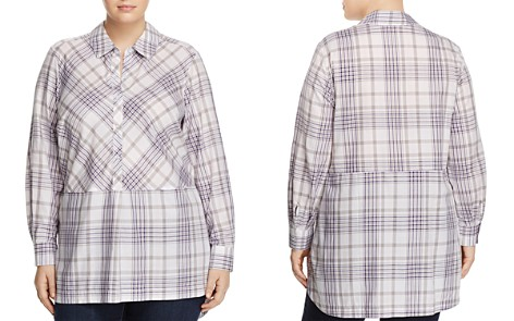 Foxcroft Plus Maddy Winter Plaid Tunic Top - Bloomingdale's_2