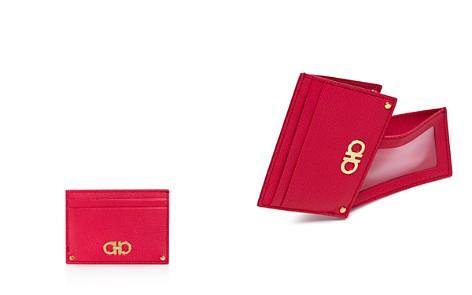 Salvatore Ferragamo Gancini Leather Card Case - Bloomingdale's_2