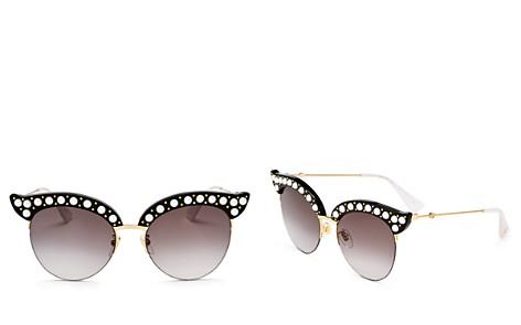 Gucci Cat Eye Embellished Sunglasses, 53mm - Bloomingdale's_2