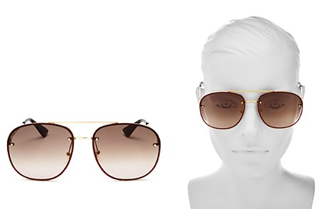 Gucci Glitter Aviator Sunglasses, 62mm - Bloomingdale's_2