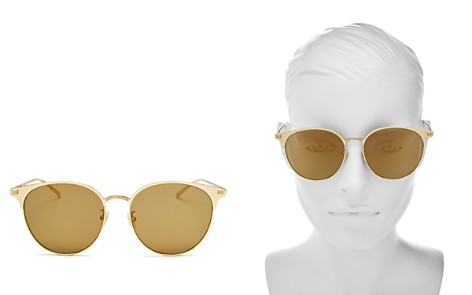 Saint Laurent Mirrored Round Sunglasses, 57mm - Bloomingdale's_2