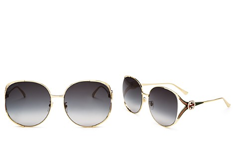 Gucci Oversized Round Sunglasses, 63mm - Bloomingdale's_2