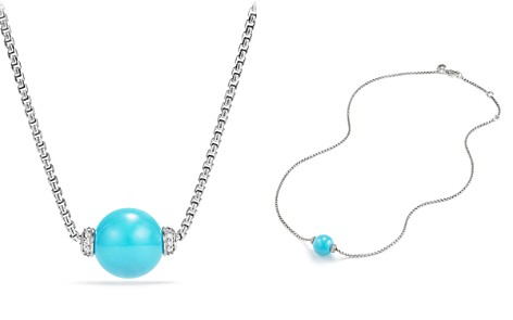 David Yurman Solari Pendant Necklace with Diamonds and Reconstituted Turquoise - Bloomingdale's_2