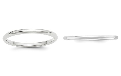 Bloomingdale's Men's 2mm Comfort Fit Band Ring in 14K White Gold - 100% Exclusive_2
