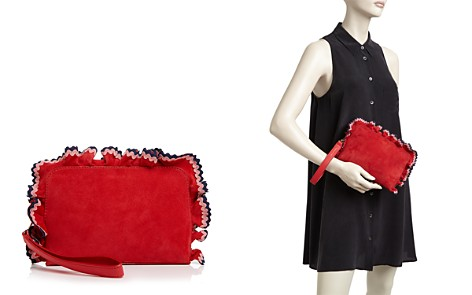 Loeffler Randall Ruffle Attaché Suede Clutch - Bloomingdale's_2