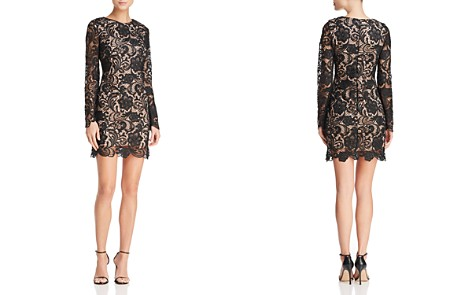 Dress the Population Jessica Long-Sleeve Lace Dress - Bloomingdale's_2