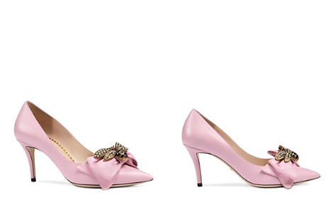 Gucci Women's Queen Margaret Embellished Leather Pumps - Bloomingdale's_2