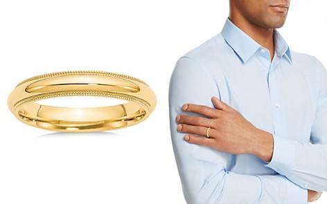 Bloomingdale's 14K Yellow Gold 4mm Milgrain Comfort Fit Wedding Band - 100% Exclusive_2