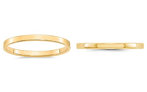 Bloomingdale's Men's 2mm Lightweight Flat Band in 14K Yellow Gold - 100% Exclusive_2