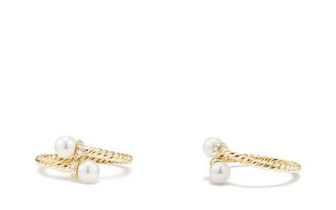 David Yurman Solari Bypass Ring with Cultured Akoya Pearl & Diamonds in 18K Gold - Bloomingdale's_2