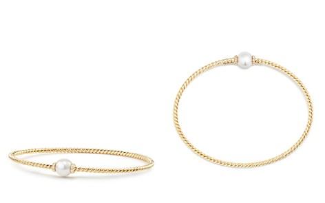 David Yurman Solari Station Bracelet with Cultured Akoya Pearl & Diamonds in 18K Gold - Bloomingdale's_2