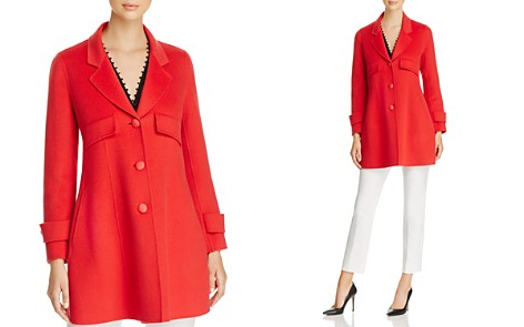 Emporio Armani Fitted Wool & Cashmere Coat - Bloomingdale's_2