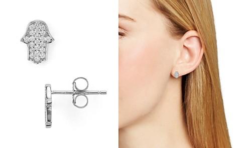 AQUA Sterling Silver Hamsa Stud Earrings - 100% Exclusive - Bloomingdale's_2