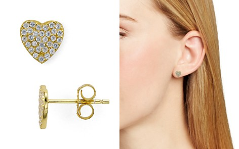 AQUA Sterling Silver Heart Stud Earrings - 100% Exclusive - Bloomingdale's_2