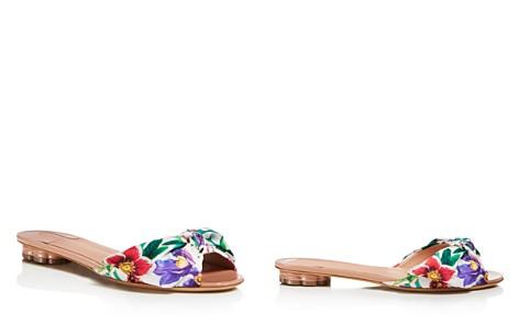 Salvatore Ferragamo Women's Floral Satin Slide Sandals - Bloomingdale's_2