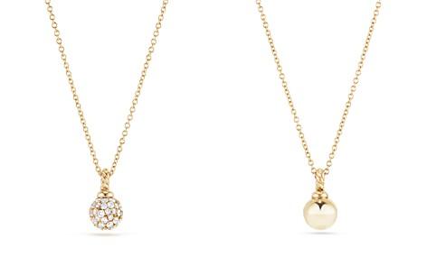 David Yurman Solari Pavé Pendant Necklace with Diamonds in 18K Gold - Bloomingdale's_2