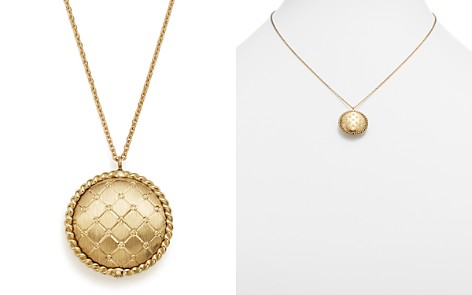 "Bloomingdale's Quilted Button Pendant Necklace in 14K Yellow Gold, 18"" - 100% Exclusive_2"