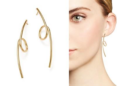 Bloomingdale's Linear Loop Drop Earrings in 14K Yellow Gold - 100% Exclusive_2