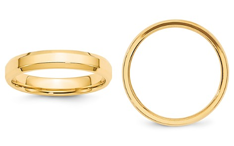Bloomingdale's Men's 4mm Bevel Edge Comfort Fit Band in 14K Yellow Gold - 100% Exclusive_2