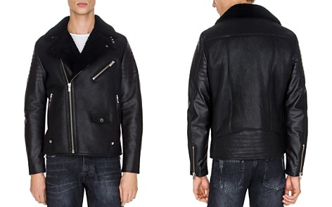 The Kooples Sheep Shearling Collar Biker Jacket - Bloomingdale's_2