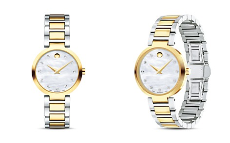 Movado Modern Classic Diamond Two-Tone Watch, 28mm - Bloomingdale's_2