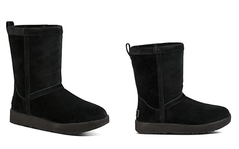 UGG® Women's Classic Short Waterproof Suede & Sheepskin Booties - Bloomingdale's_2