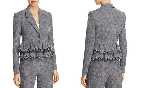 Rebecca Taylor Ruffled-Peplum Suiting Jacket - Bloomingdale's_2
