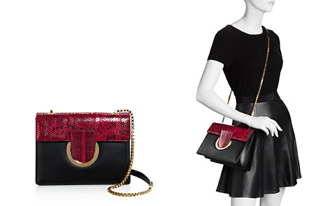 Salvatore Ferragamo Thalia Small Snakeskin and Leather Shoulder Bag - 100% Exclusive - Bloomingdale's_2