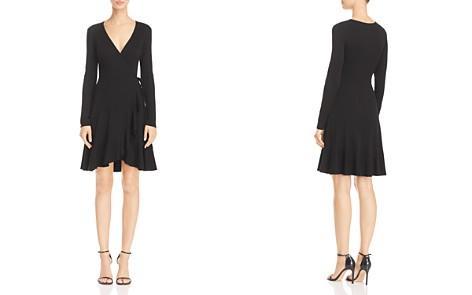 AQUA Rib-Knit Faux Wrap Dress - 100% Exclusive - Bloomingdale's_2
