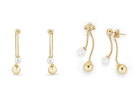 David Yurman Solari Chain Drop Earrings with Cultured Akoya Pearls and Diamonds in 18K Gold - Bloomingdale's_2