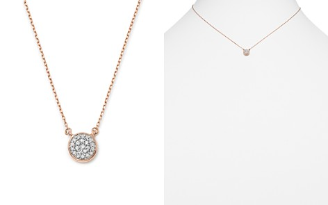 "Adina Reyter 14K Rose Gold Pavé Diamond Disc Necklace, 15"" - Bloomingdale's_2"