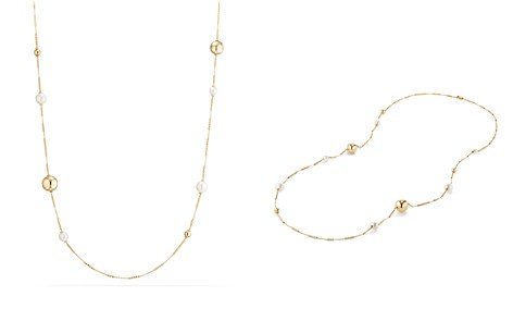 David Yurman Solari Long Station Necklace with Cultured Freshwater Pearls in 18K Gold - Bloomingdale's_2