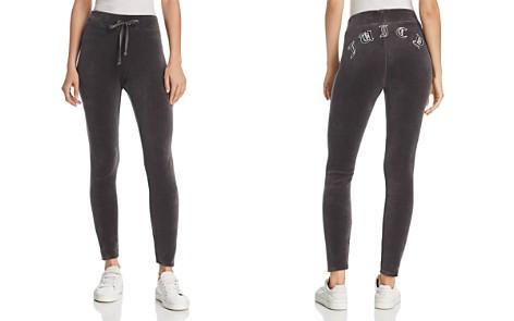Juicy Couture Black Label Velour Logo Leggings - Bloomingdale's_2