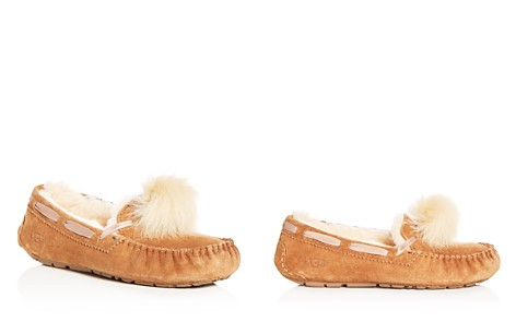 UGG® Women's Dakota Suede & Shearling Pom-Pom Slippers - Bloomingdale's_2