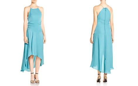 Haute Hippie The Marina Ruched High/Low Hem Silk Dress - Bloomingdale's_2