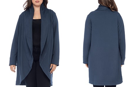 B Collection by Bobeau Curvy Peri Quilted Shawl Collar Knit Jacket - Bloomingdale's_2