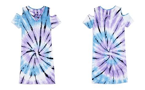 Flowers by Zoe Girls' Cold-Shoulder Tie-Dye Shirt Dress - Little Kid - Bloomingdale's_2