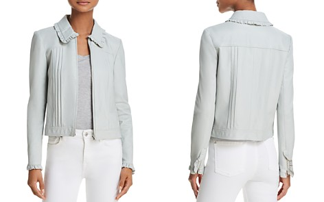Rebecca Taylor Ruffled Leather Jacket - Bloomingdale's_2