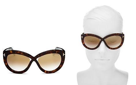 Tom Ford Diane Mirrored Cat Eye Sunglasses, 56mm - Bloomingdale's_2
