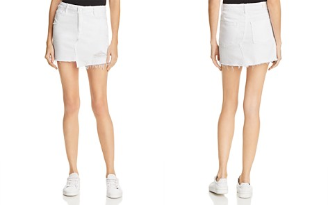 PAIGE Afia Denim Skirt in Crisp White - 100% Exclusive - Bloomingdale's_2