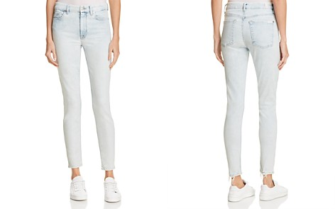 7 For All Mankind Ankle Skinny Jeans in Bleached Out - Bloomingdale's_2