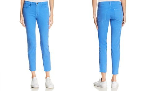 FRAME Le High Skinny Raw-Edge Jeans in Coastal Blue - Bloomingdale's_2