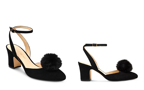 IVANKA TRUMP Women's Elliot Suede & Faux-Fur Pom-Pom Ankle Strap Pumps - Bloomingdale's_2