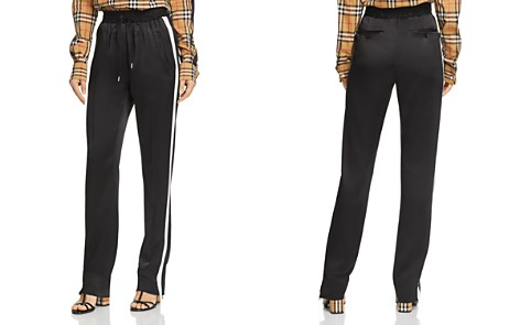 Burberry Tanley Mulberry Silk Track Pants - Bloomingdale's_2