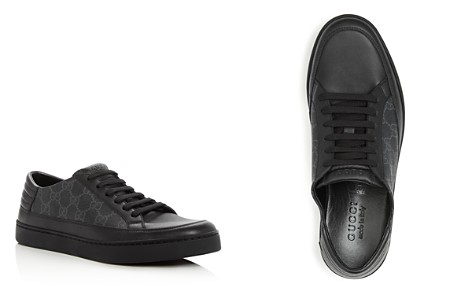 Gucci Men's Common Canvas & Leather Lace Up Sneakers - Bloomingdale's_2
